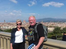 Stopping for a view of Florence while on our electric bike tour with Alicia , ken c - October 2017