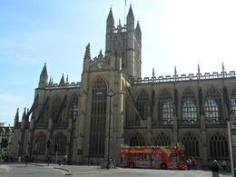 Pic of tour bus we used. One of the hop-on/hop-off points is right outside the Abbey which is also very close to The Roman Baths. , Gary W - April 2012