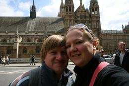 Almari & Jaco in front of the House of Parliament on our way to stand next to the BIG BEN., Almari K - May 2010