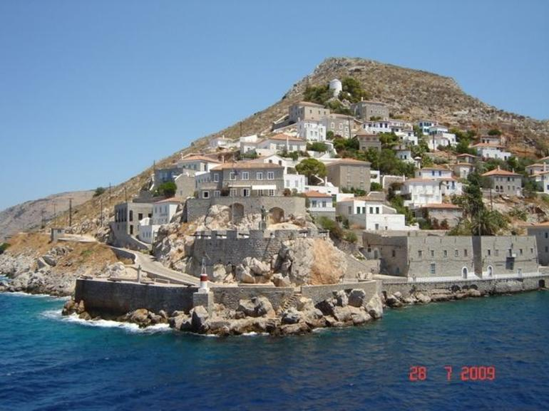 Hydra: view from the boat - Athens