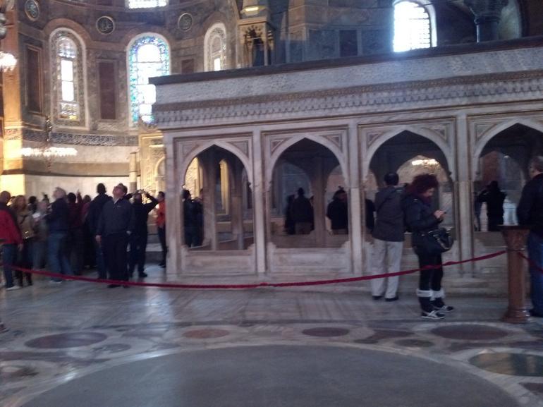 Inside the Hagia Sophia - Istanbul