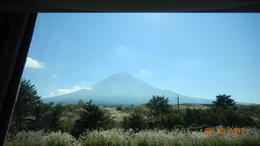 Mt Fuji from the bus . , Shaun R - November 2012