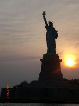 Statue of Liberty at sunset. , Sheila - July 2011