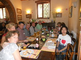 Lunch time w/ the group. The food was excellent! , Leonila C - October 2012