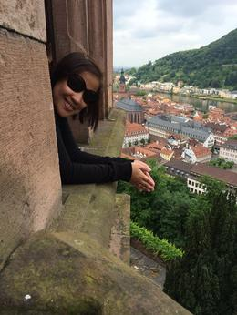 Taking in the breathtaking views from Schloss Heidelberg , Anne A - June 2014