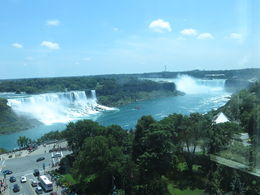 All the falls visible in one shot. View from the restaurant. , Beth B - August 2015
