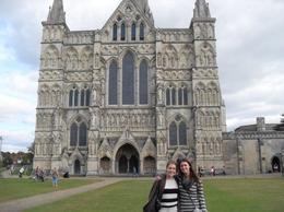 My friend and I in front of Salisbury Cathedral. - October 2009