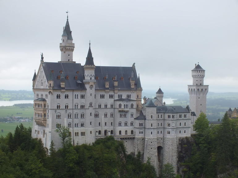 Schloss Neuschwanstein viewed from Marienbrucke. - Munich