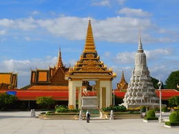 Inside the Silver Pagoda complex at the Royal Palace in Phnom Penh. , Kevin F - December 2014