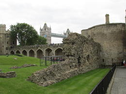 A view of the Tower Bridge from within the walls of the complex. , Nancy - June 2014