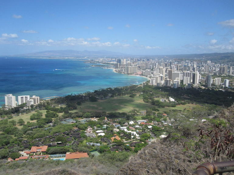 View from Diamond Head. - Oahu
