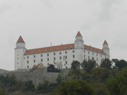 The castle as seen from the Danube , RP - October 2016