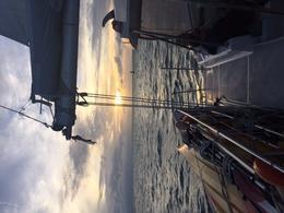 Sunset from the deck of the Catamaran , Scott R - November 2016