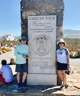 JH and CH at Westernmost point of Europe, Cabo da Roca, Sintra, Portuga , Jack H - October 2017