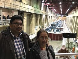 in the room of hydroelectric turbines. 575 feet below ground level , Adolfo G - December 2017