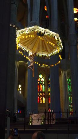 The beautiful altar of Sagrada Familia , Geoff S - January 2018
