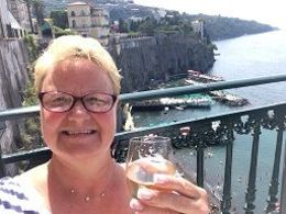 I'm sitting on the terrace of the bar in our beautiful hotel in Sorrento Hotel Tramontano. We had a fabulous time on this trip! Nothing to complain about ... great food, new friends, and amazing ... , Stephanie R - July 2015