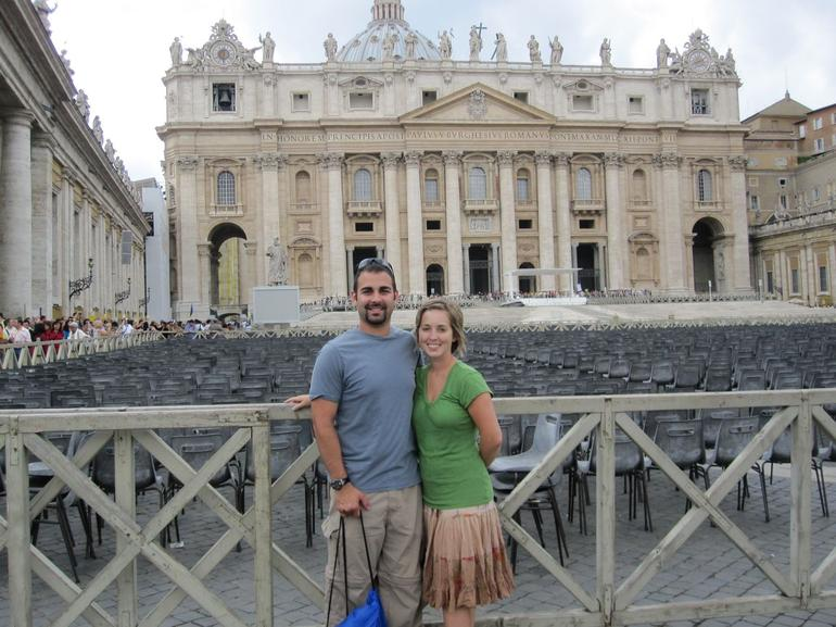Brett and Kerry in Front in the Vatican - Rome