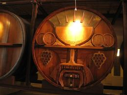 These barrels were all carved with different scenes, Valerie P - October 2009