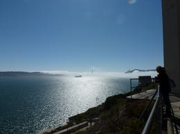 Golden gate - Where are you? Photo taken from Alcatraz , Bernie C - August 2011