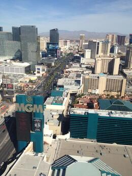 Breathtaking view of the strip from our helicopter, Krystal W - March 2014