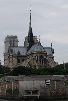 A view of the beautiful cathedral while afloat in the Seine. , Jeff & Kathy - July 2012