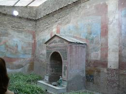 This was one of the courtyards for one of the rich houses in Pompeii. The sculptures, building and artifacts are truly amazing. - January 2008