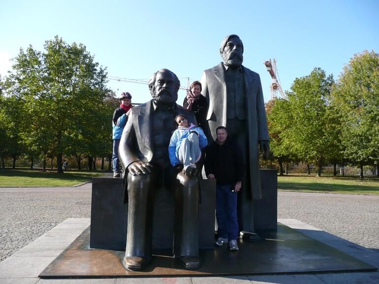 Posing with the big guys - Berlin