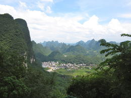 Karst scenery and the valley below - January 2013