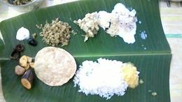Ready to eat our feast! Our papadums are missing from the pictures though. , Audi - February 2017
