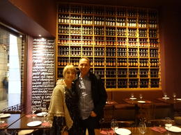 My husband and I at Xaloc - a fabulous tapas bar that Nicholas took us to. , Karen - January 2014
