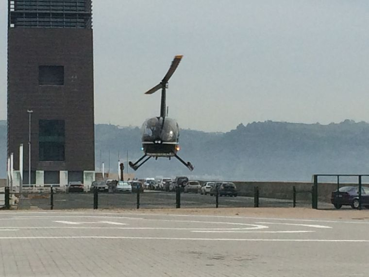 Arrivée de lhélicoptère - Lisboa