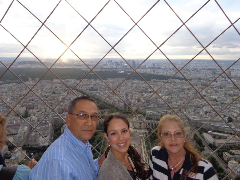 At the very top of the Eiffel Tower - Paris