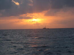 Beautiful view of the sun setting on the Pacific., Bandit - February 2011
