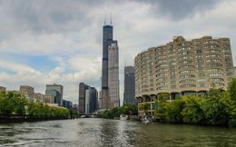 View from the South Branch of the Chicago River, Katie Aune - November 2014