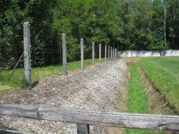 Electric fence dachau concentration camp, Richard S - August 2010