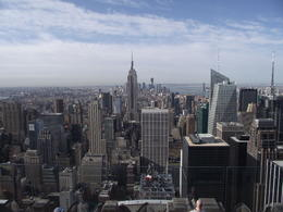 View of downtown Manhattan from top of the rock , Christopher P - April 2012