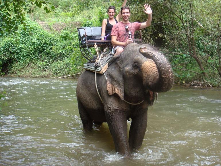 Elephant ride through Khao Yai - Bangkok