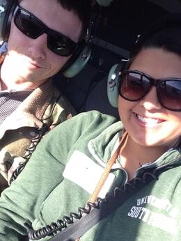 Me and my husband had such a great time during this helicopter ride., Krystal W - March 2014