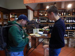 Our guide Gabriel preparing freshly made olive oil and bread for Scott. Delicious! , Scott M - December 2014