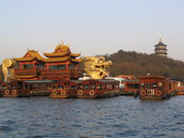 This is such a pretty view of the West Lake. You can even see the Leifeng Pagoda in the background. - May 2012
