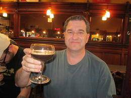Dad enjoys a nice dark beer , Steven G - May 2011