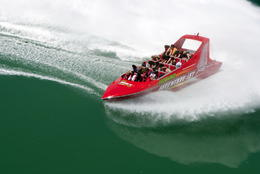 Aside from how fun this jet boat ride is, the water in Waitemata Harbour is gorgeous - September 2011