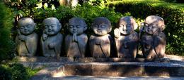 How cute are these guys? These are Jizo Bosatsu statues. , Panda - November 2013