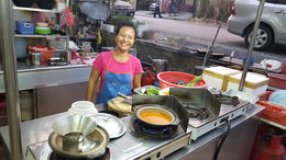 One of the many food stalls we visited , Jessica C - April 2016