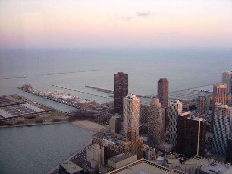 Looking down on Navy Pier - Chicago