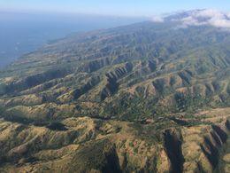Flying over Molokai from Maui, jenvald - February 2015