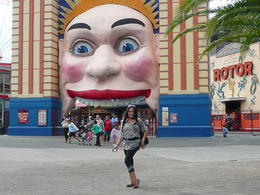 merryanne before going into luna park , clinton j w - April 2012