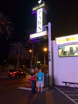 My and and me outside the Pawn Shop. Had a great time!! Fabulous tour! , Penny - January 2016