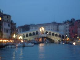The Rialto Bridge from our boat., Justino D - July 2009